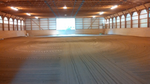 Lighted 140' x 70' indoor ring