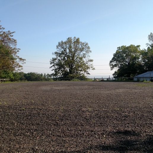 200' x 80' stone dust and rubber mulch outdoor ring